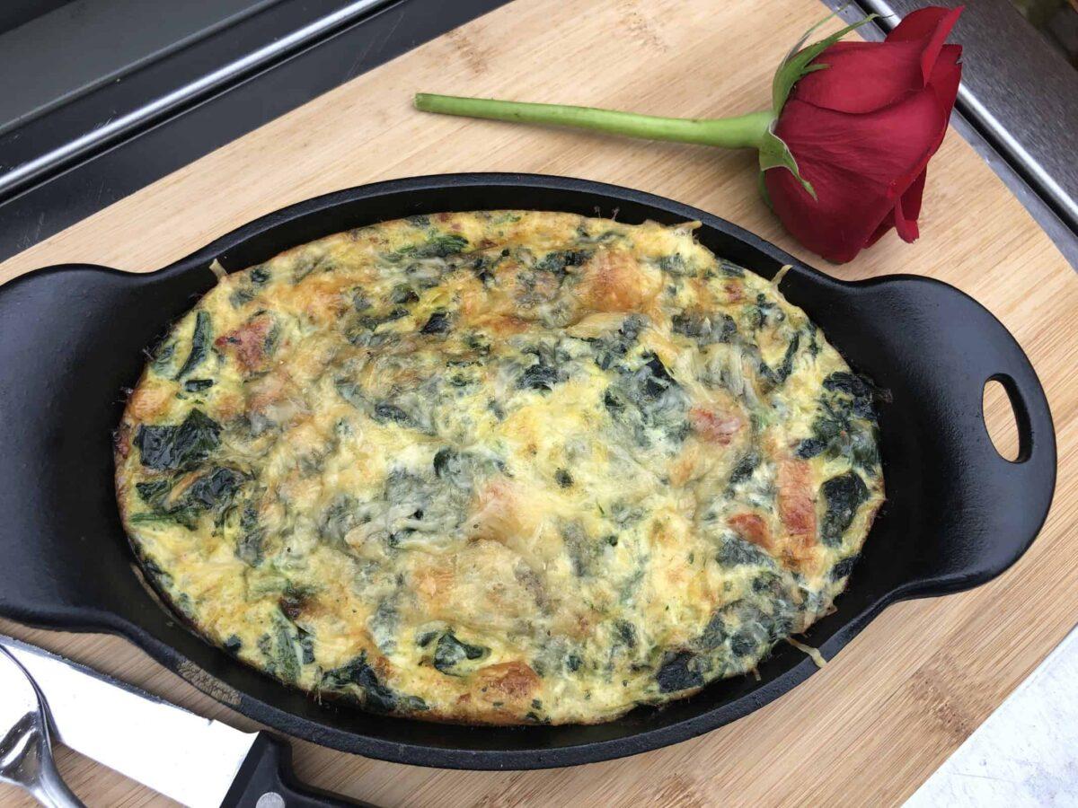 Cast Iron Spinach Frittata