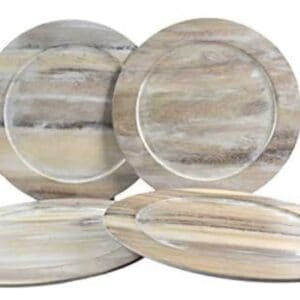 Stylish Wooden Plate Chargers