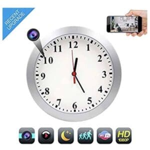 Hidden Camera Wall Clock