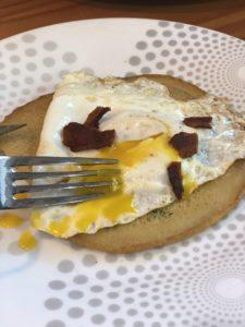 egg on a crepe