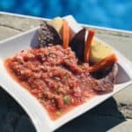 A Bowlof Fresh Salsa poolside