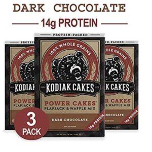 a 3 pack of kodiak dark chocolate muffin mix