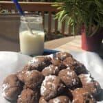 a tower of chocolate cookie bon bon