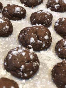 bon bons sprinkled with powdered sugar