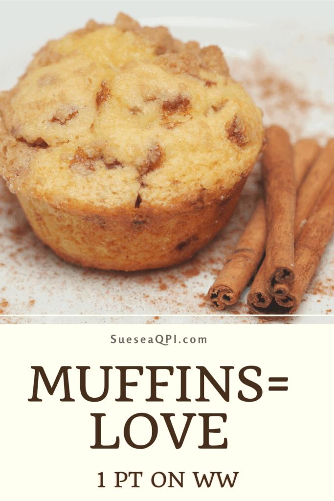 3 Ingredient Cinnamon Muffins