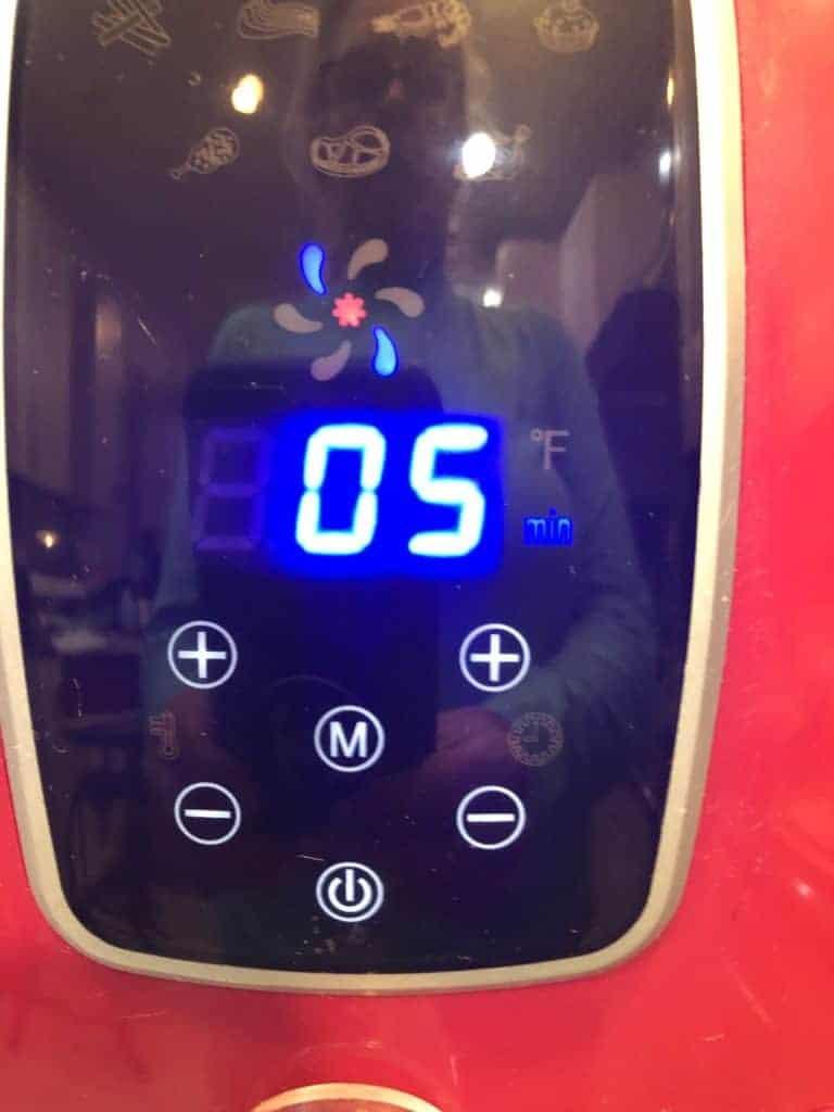Air Fryer cooking time display