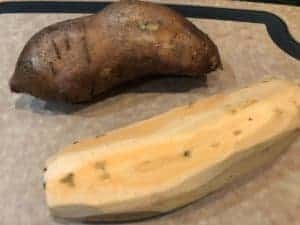 sweet potato peeled