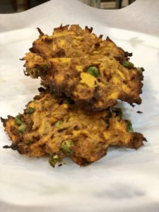 Crispy Curried Sweet Potato Fritters