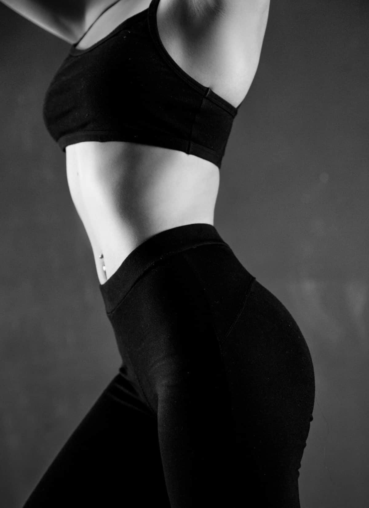a healthy and fit female body