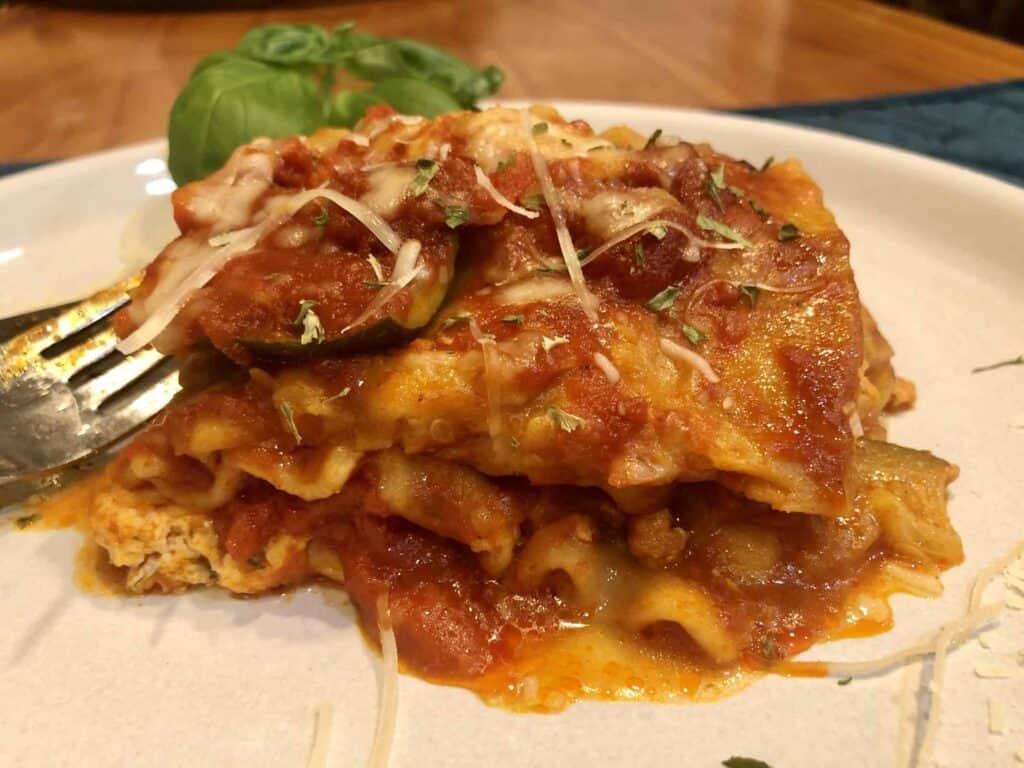 Crockpot Chicken Zucchini Lasagna