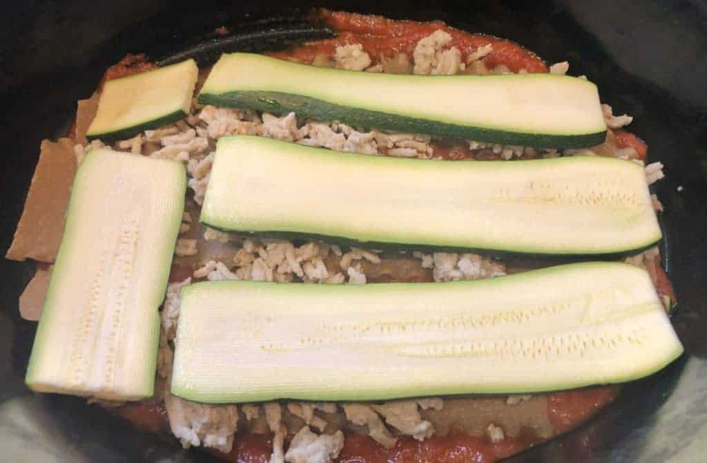 Layering Zucchini in the crockpot