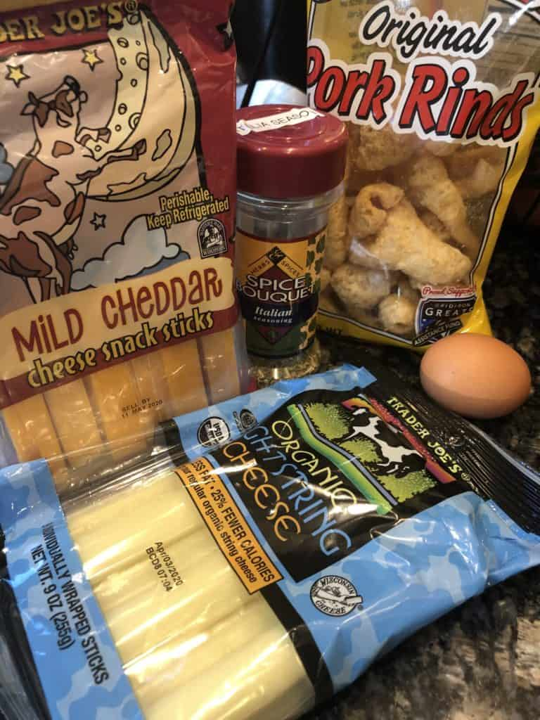 Ingredients for Low Carb Cheese Sticks