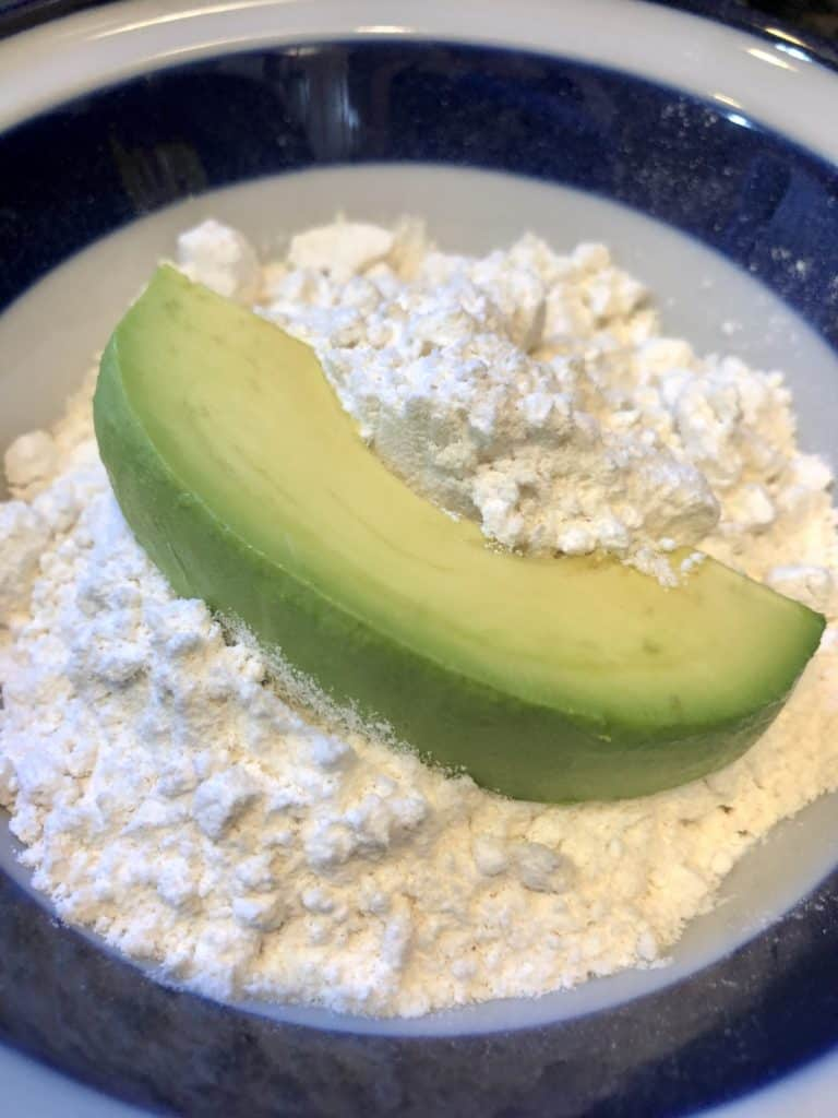 Dusting Avocado with Flour