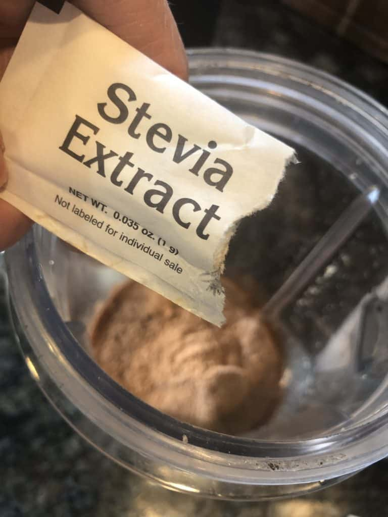 Adding Stevia to a Chocolate Frosty