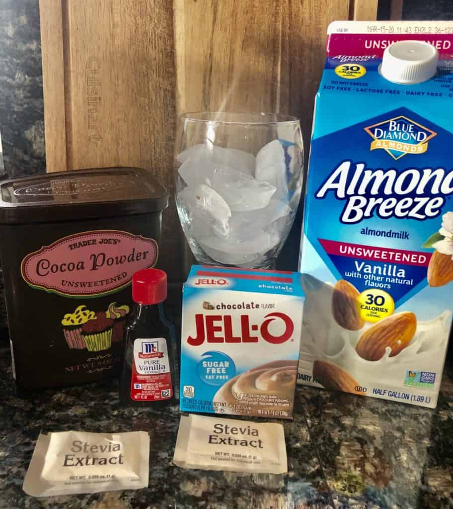 Ingredients for Wendy's Chocolate Frosty