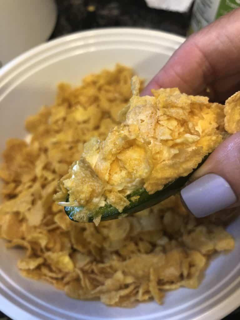 Cornflake Breaded Jalapeno Poppers