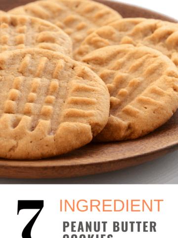 7 Ingredient Peanut Butter Cookies