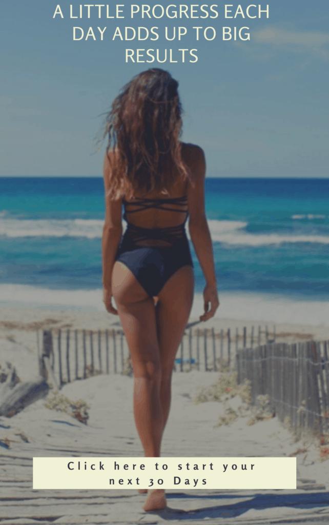 fit female on beach