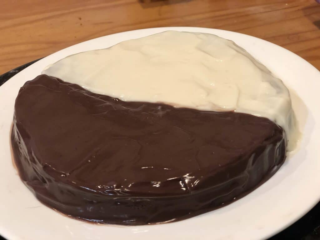 Black and White Air Fryer Cake