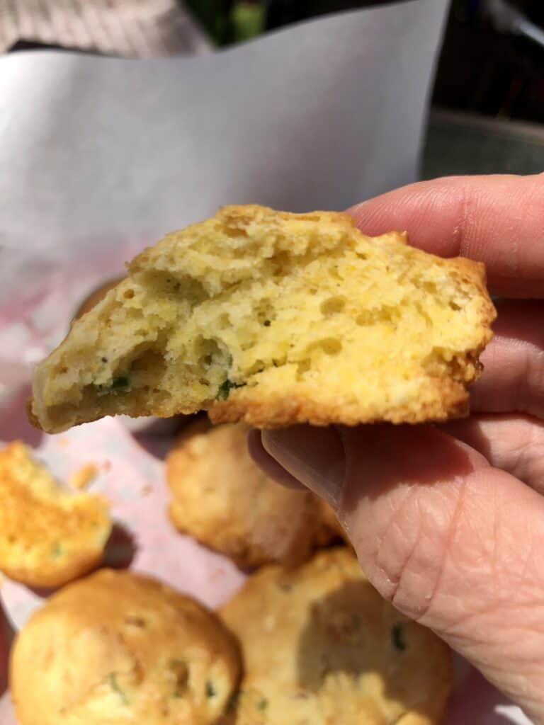 A Bite of an Air Fryer Hushpuppy