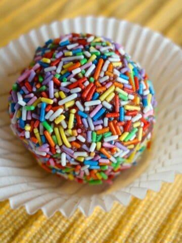 Rainbow Sprinkle Protein Ball